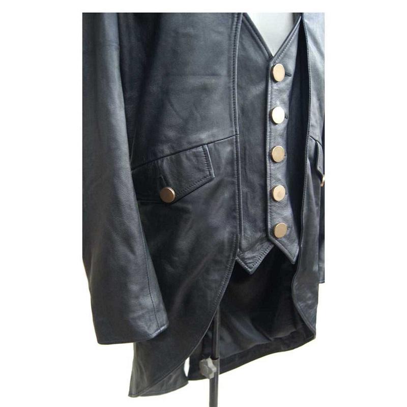Original Leather Black Tail Coat