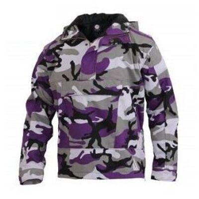 Purple Camo Anorak Pullover Jacket