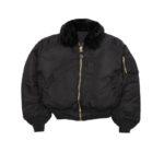 Satin B-15 Black Jacket