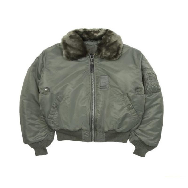 Satin B-15 Green Jacket