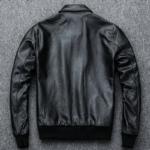 Slim Fit Leather Pilot Jacket