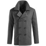 Surplus Grey Navy Pea Coat
