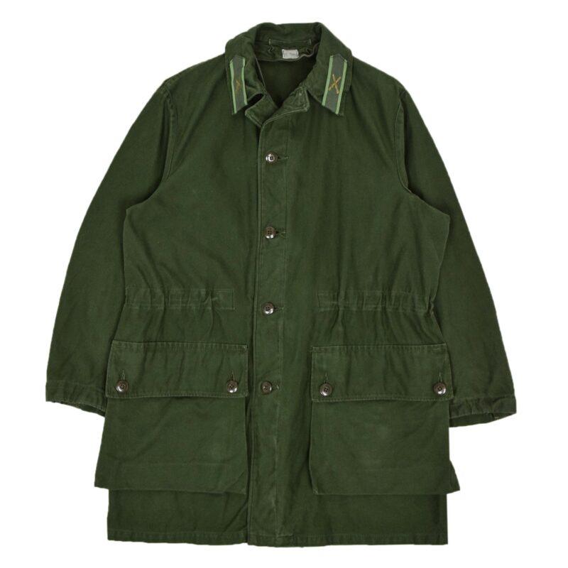 Swedish Military Field Coat Olive Green M Oversized