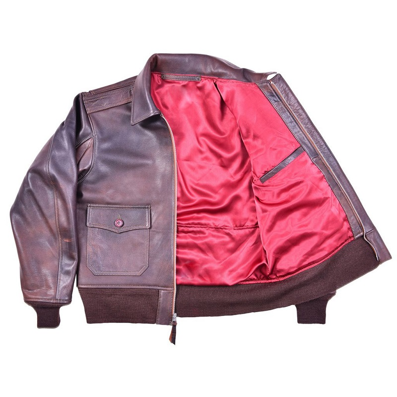 WWII Navy Leather purple Flight Jacket