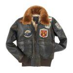 Women's Top Gun Brown Flight Jacket