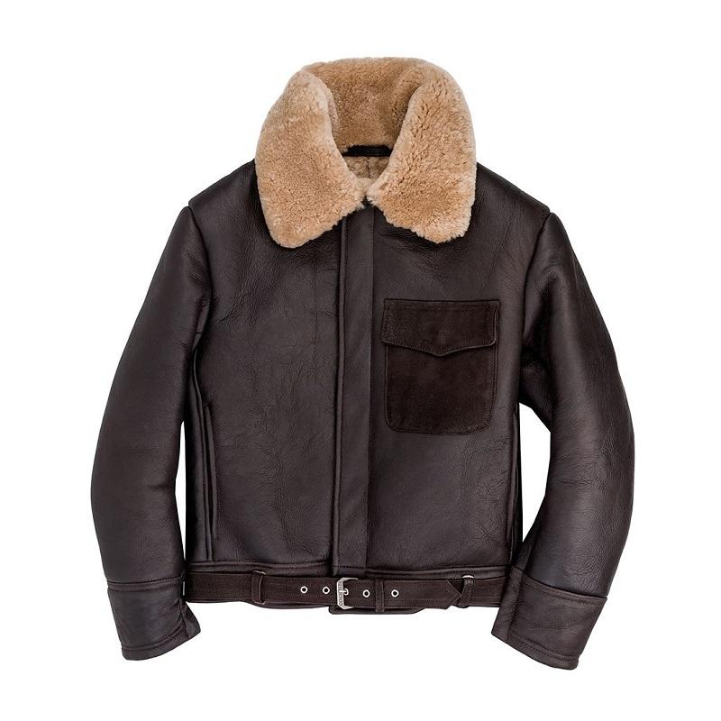 B3 Sheepskin leather bomber Jacket