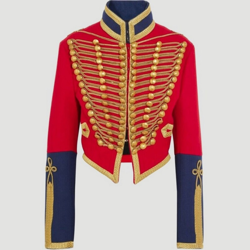 Ladies Hussar Red Military Jacket