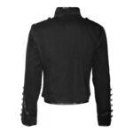 Men's Gothic Black Military Parade Jacket