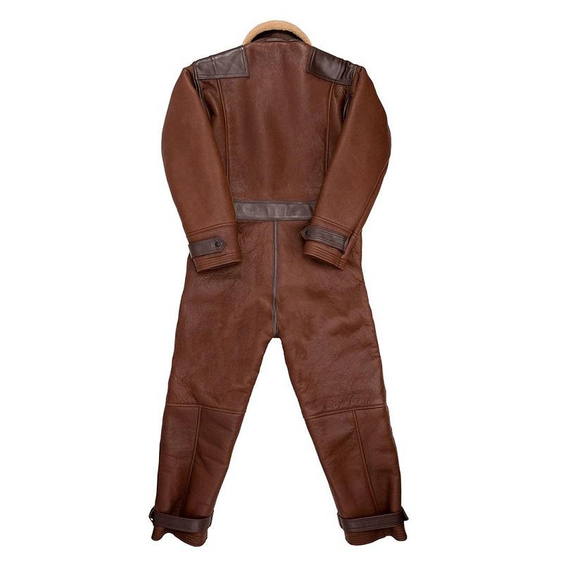 Sheepskin Leather Flight brown Suit