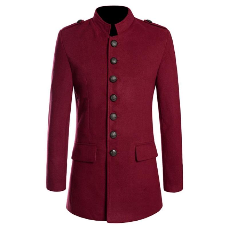 Women Gothic Red Military Coat
