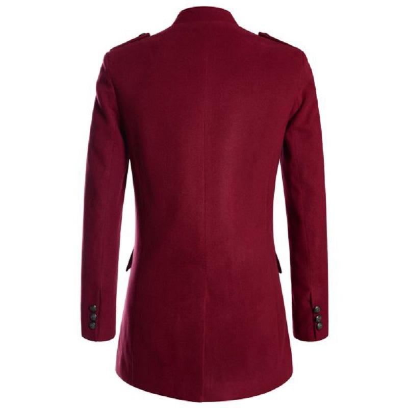 Women Red Gothic Military Coat