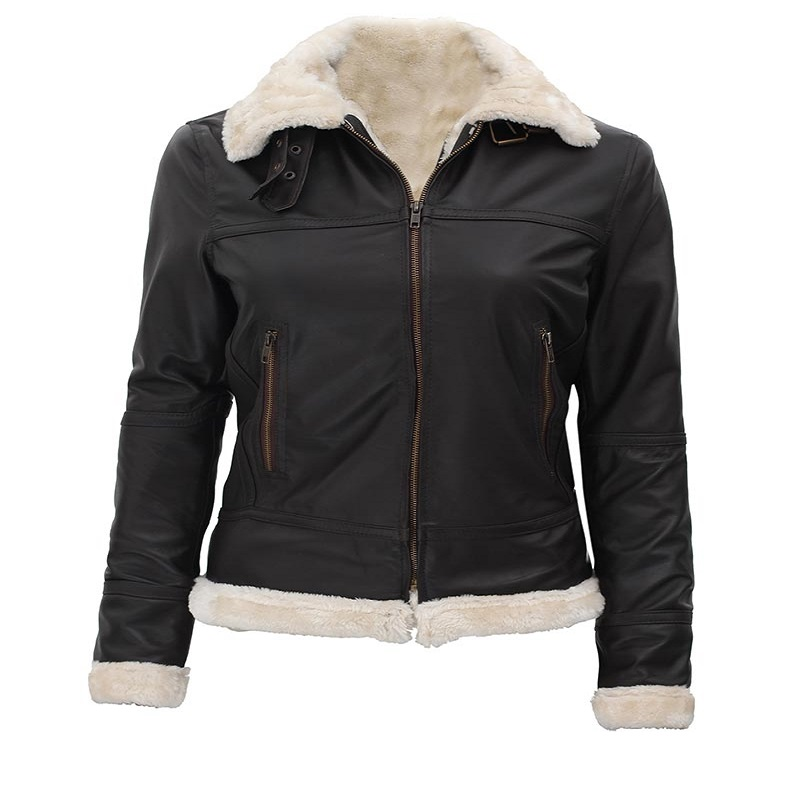 Women's Black B3 Shearling Bomber Jacket